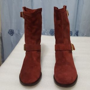 🎈SCHUTZ🎈 red wine color womens boots size 6B